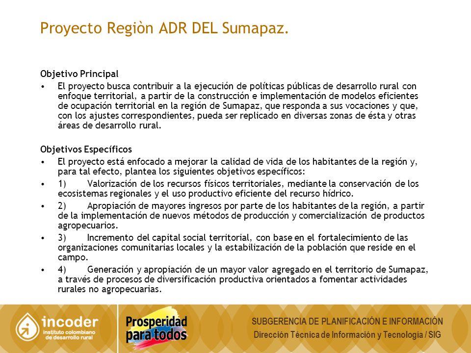Proyecto Regiòn ADR DEL Sumapaz.