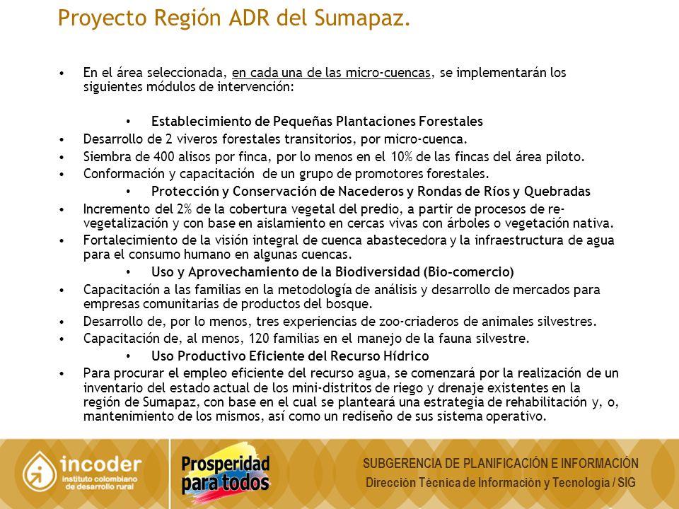 Proyecto Región ADR del Sumapaz.