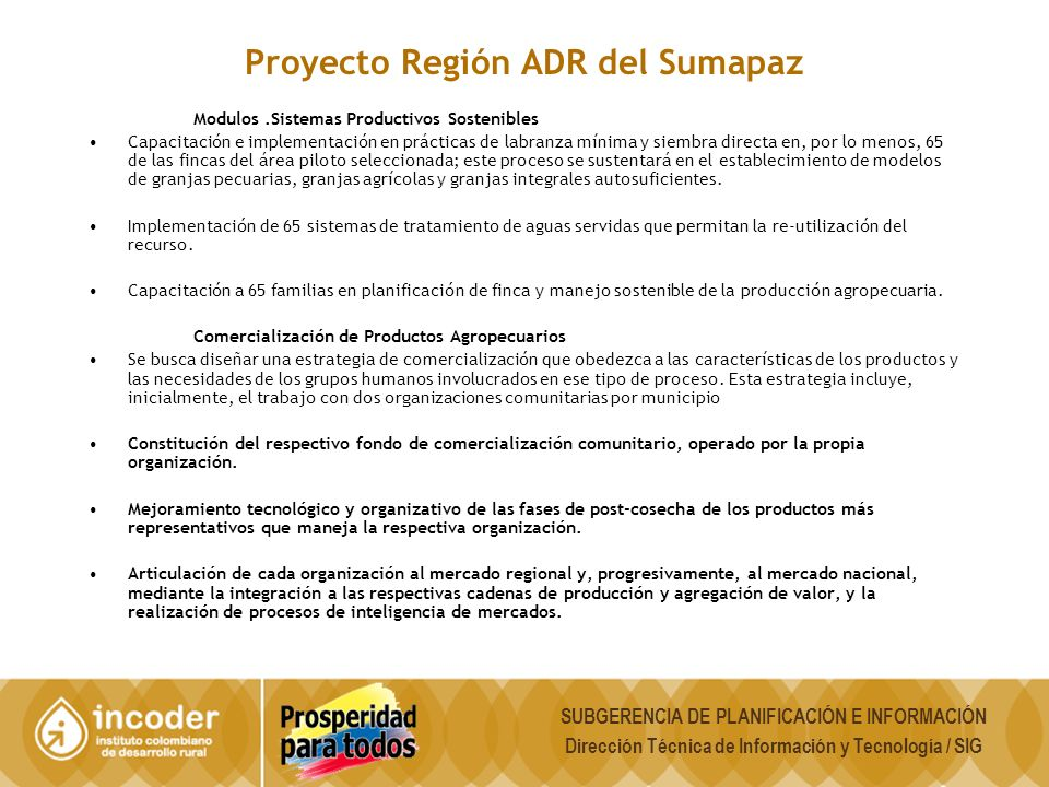 Proyecto Región ADR del Sumapaz
