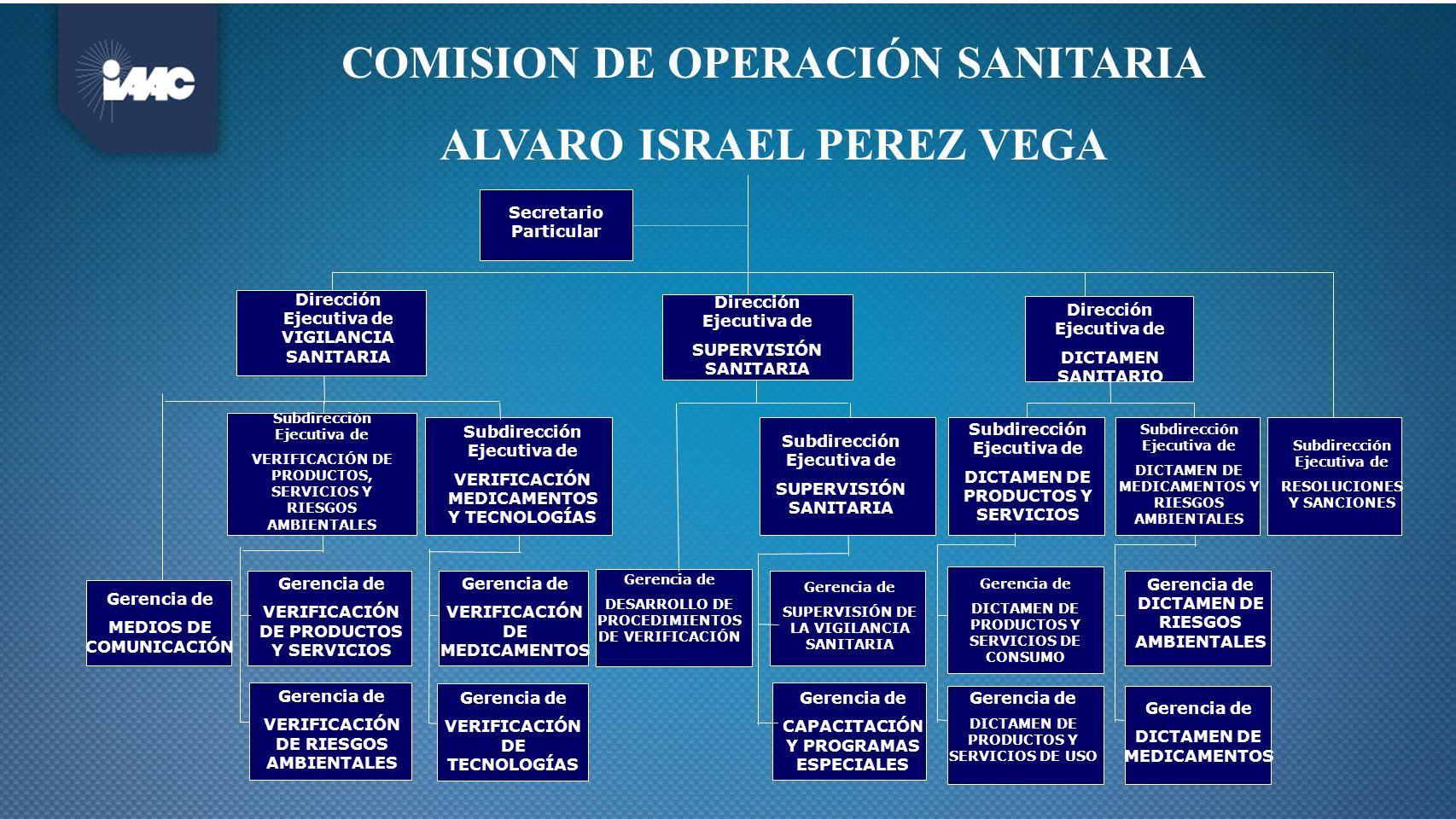 COMISION DE OPERACIÓN SANITARIA ALVARO ISRAEL PEREZ VEGA