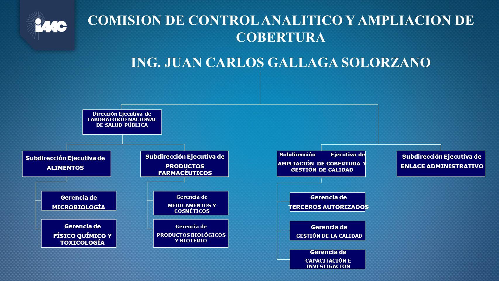 COMISION DE CONTROL ANALITICO Y AMPLIACION DE COBERTURA