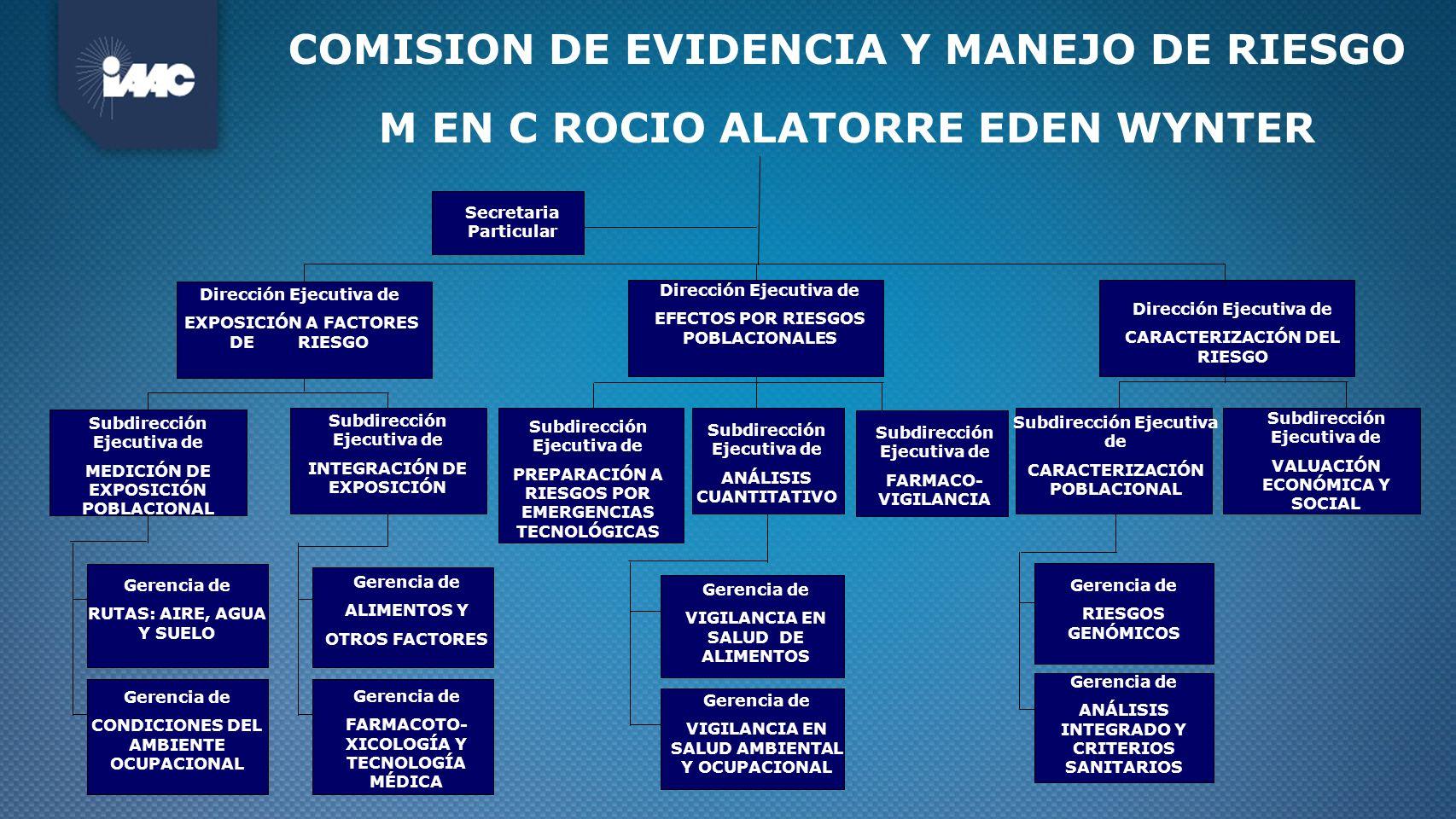 COMISION DE EVIDENCIA Y MANEJO DE RIESGO