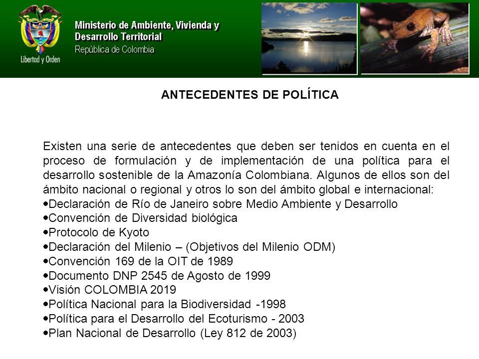 ANTECEDENTES DE POLÍTICA