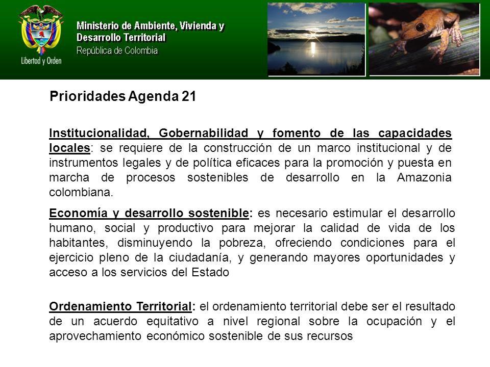 Prioridades Agenda 21