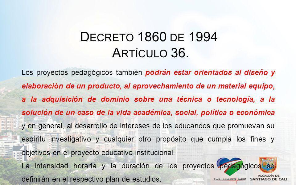 Decreto 1860 de 1994 Artículo 36.