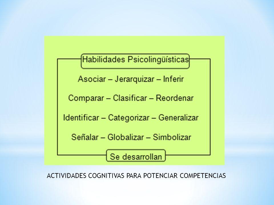ACTIVIDADES COGNITIVAS PARA POTENCIAR COMPETENCIAS