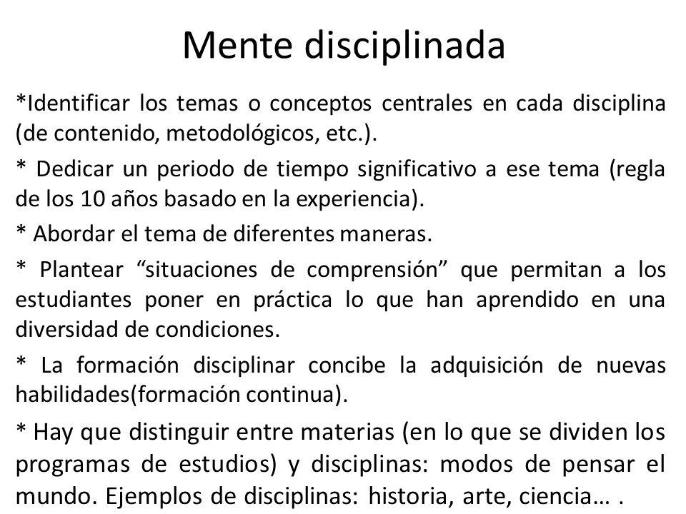Mente disciplinada
