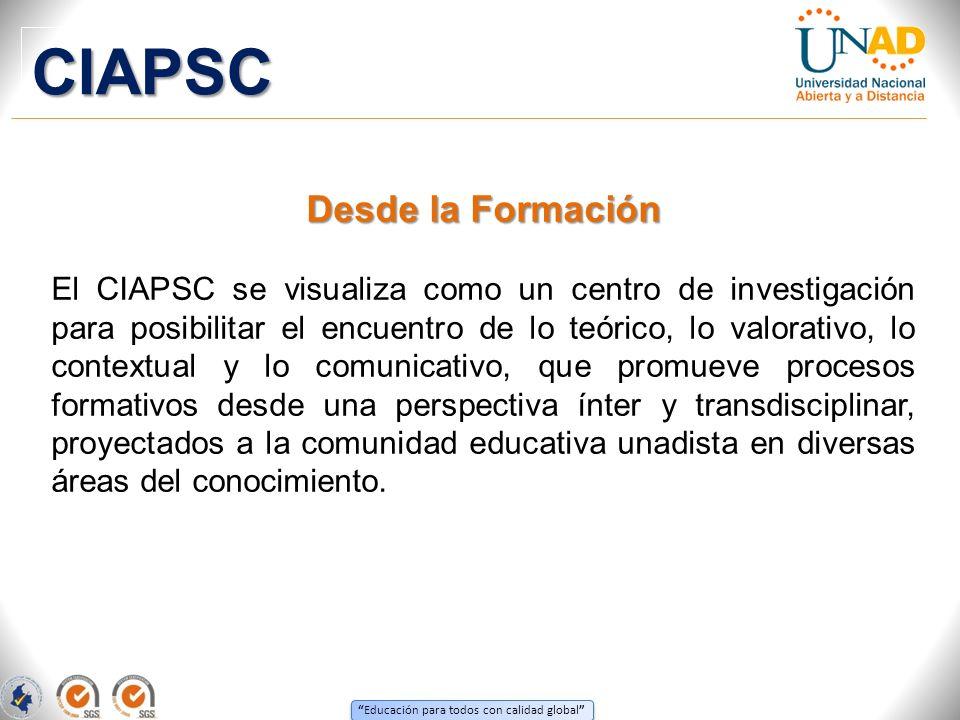 CIAPSC Desde la Formación