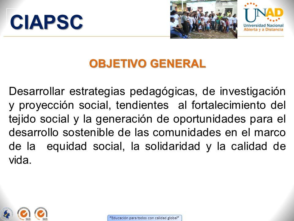 CIAPSC OBJETIVO GENERAL