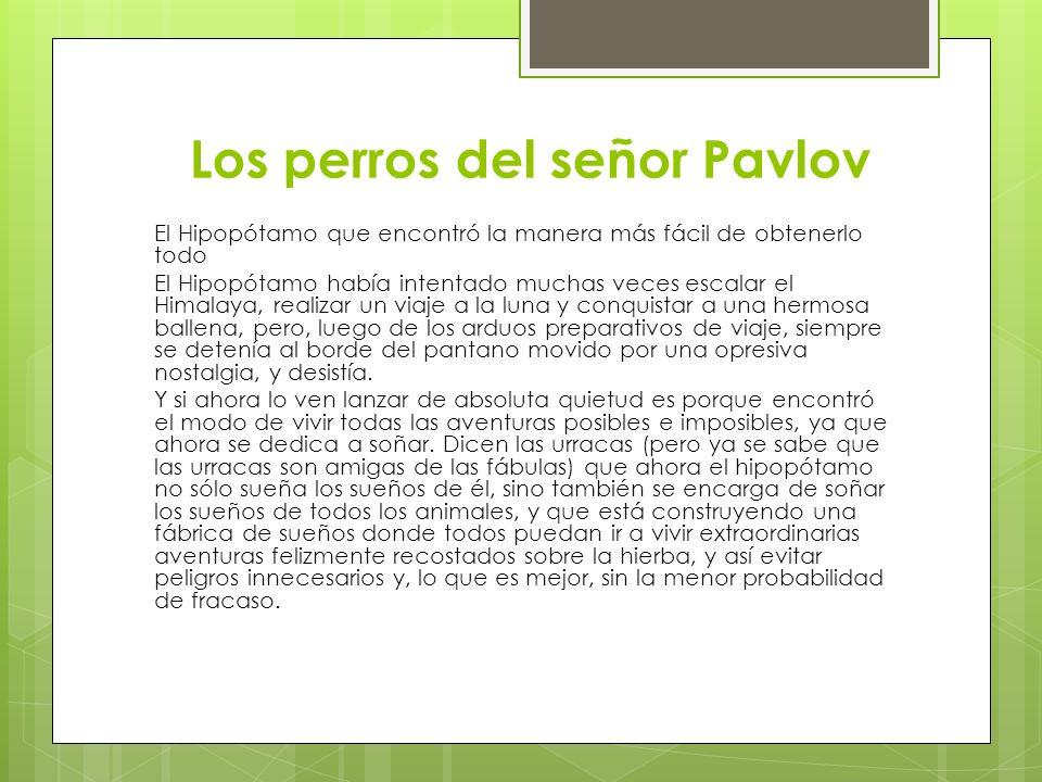 Los perros del señor Pavlov