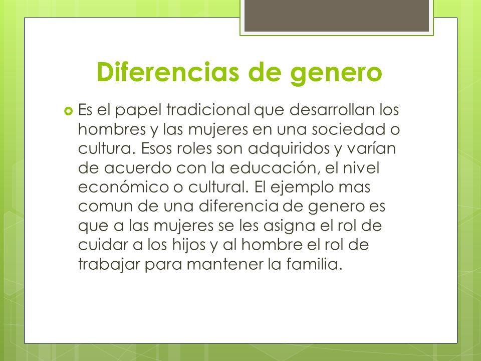 Diferencias de genero