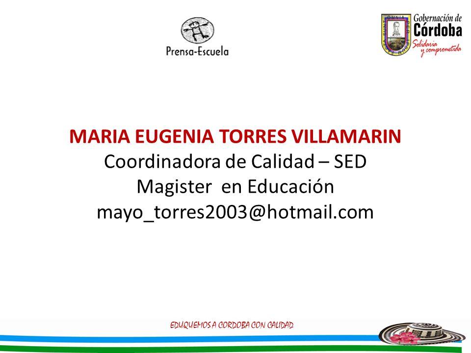 MARIA EUGENIA TORRES VILLAMARIN