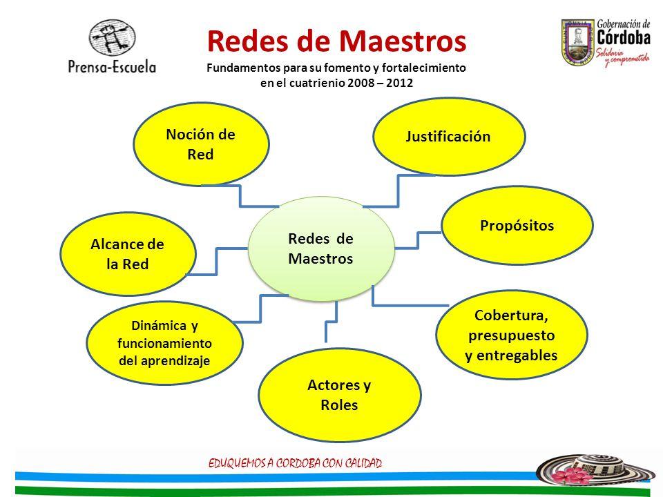 Redes de Maestros Fundamentos para su fomento y fortalecimiento en el cuatrienio 2008 – 2012
