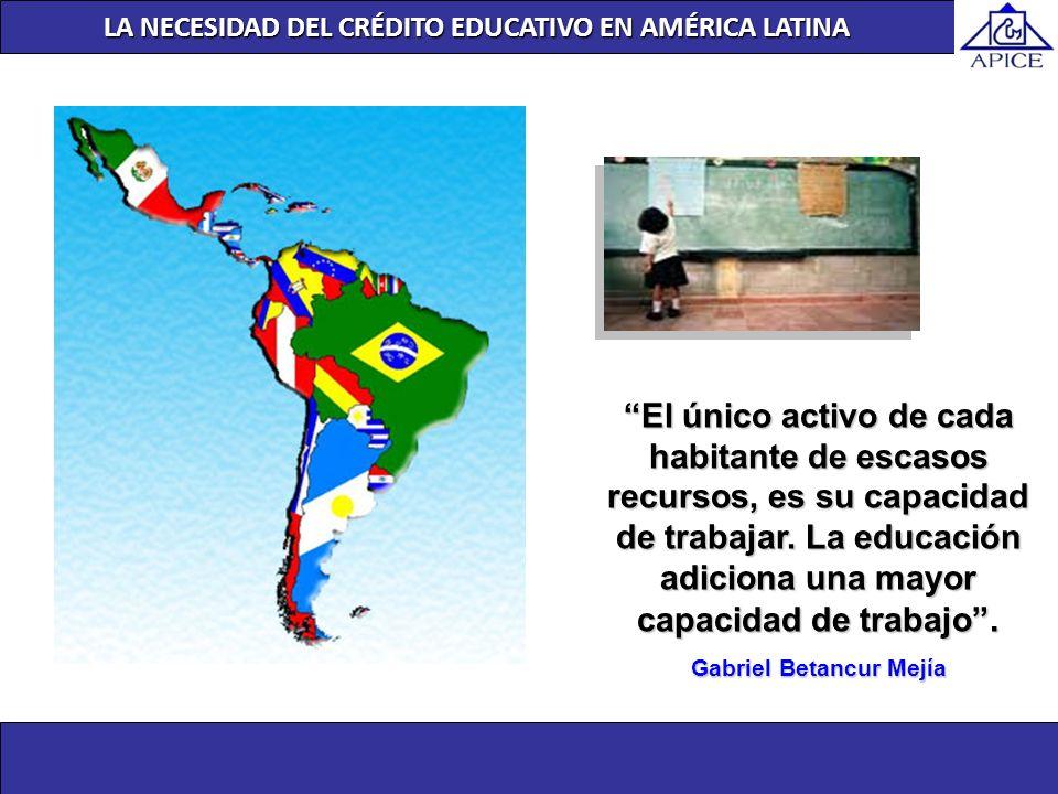 LA NECESIDAD DEL CRÉDITO EDUCATIVO EN AMÉRICA LATINA