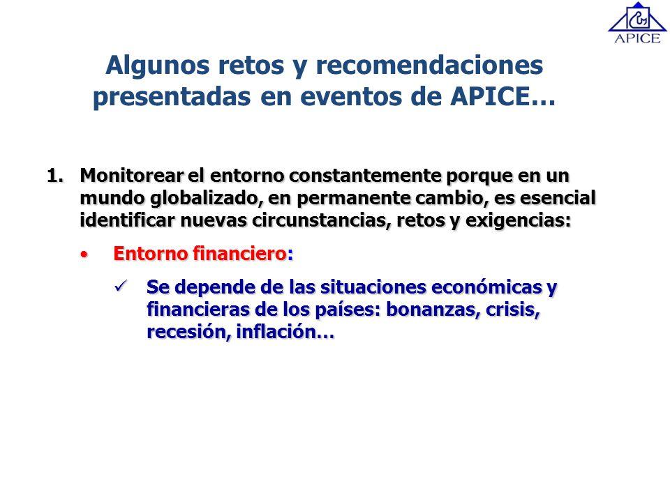 Algunos retos y recomendaciones presentadas en eventos de APICE…