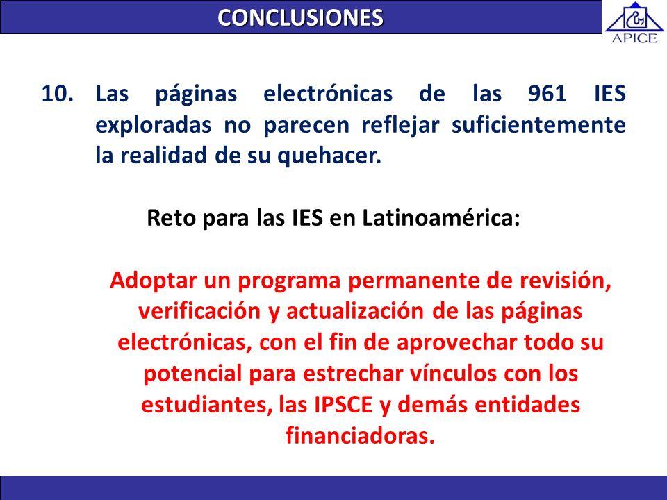 Reto para las IES en Latinoamérica: