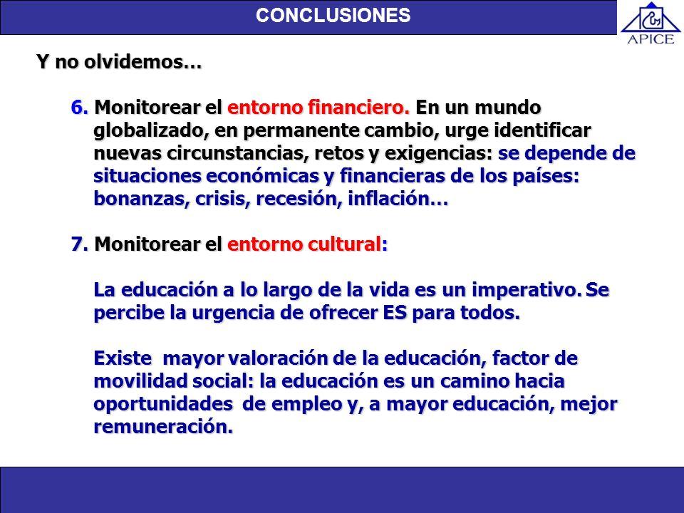 7. Monitorear el entorno cultural: