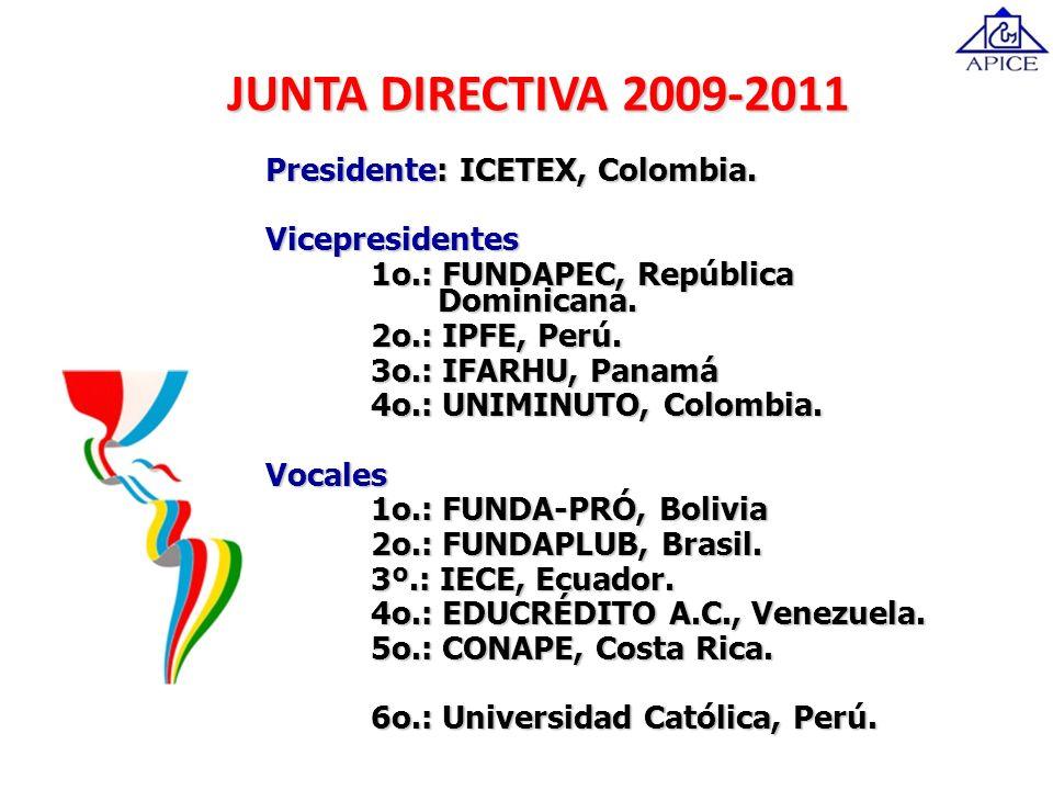 JUNTA DIRECTIVA 2009-2011 Presidente: ICETEX, Colombia.