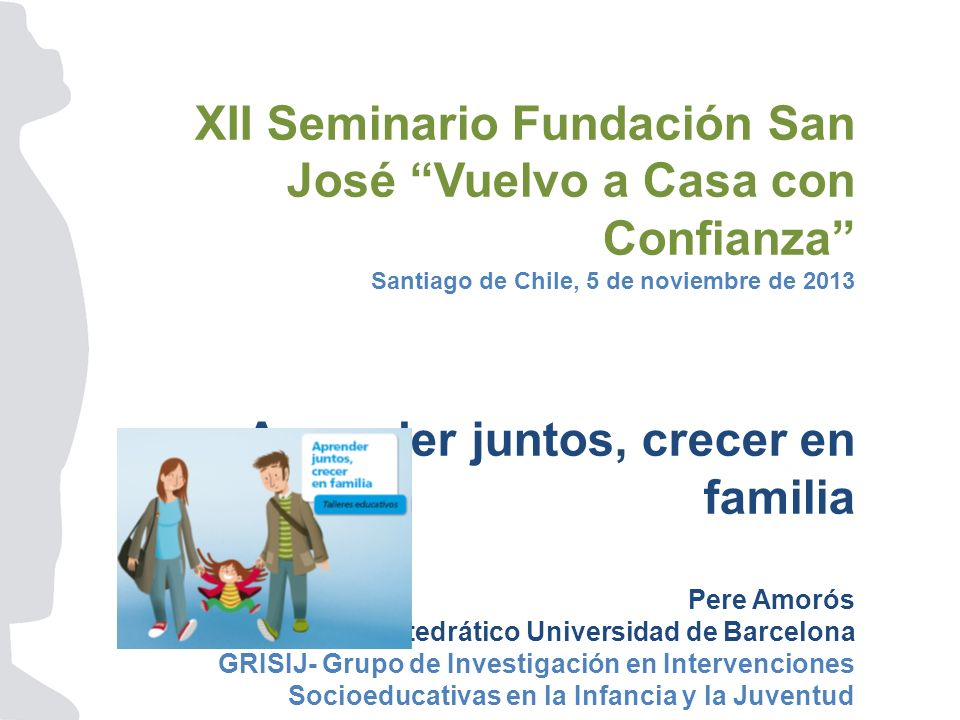 XII Seminario Fundación San José Vuelvo a Casa con Confianza