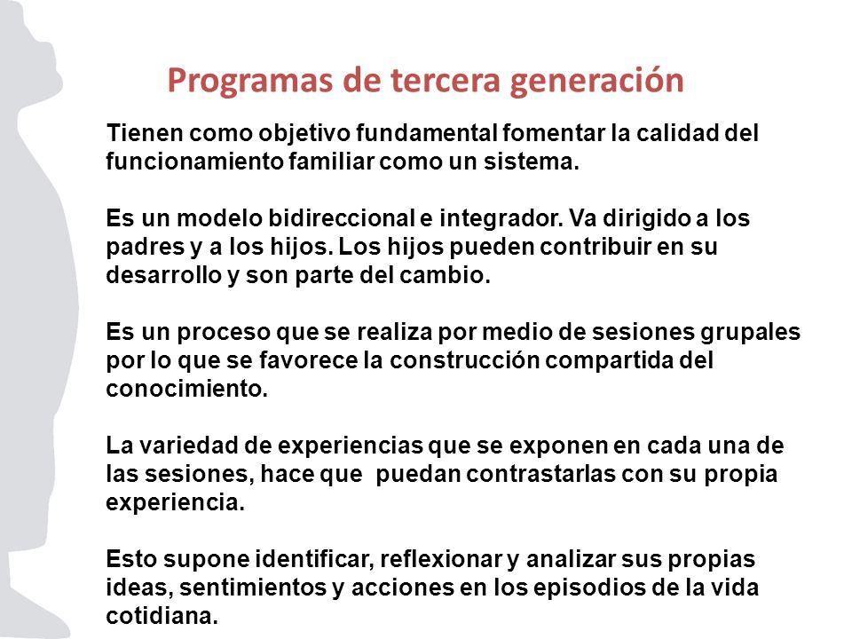 Programas de tercera generación