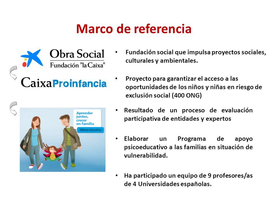 Marco de referencia Fundación social que impulsa proyectos sociales, culturales y ambientales.