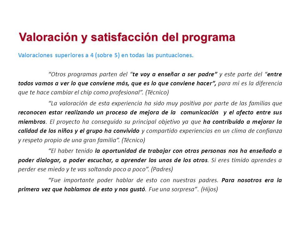 Valoración y satisfacción del programa