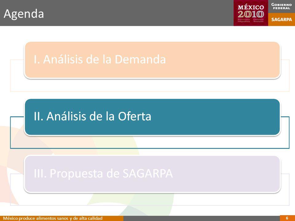 Agenda México produce alimentos sanos y de alta calidad