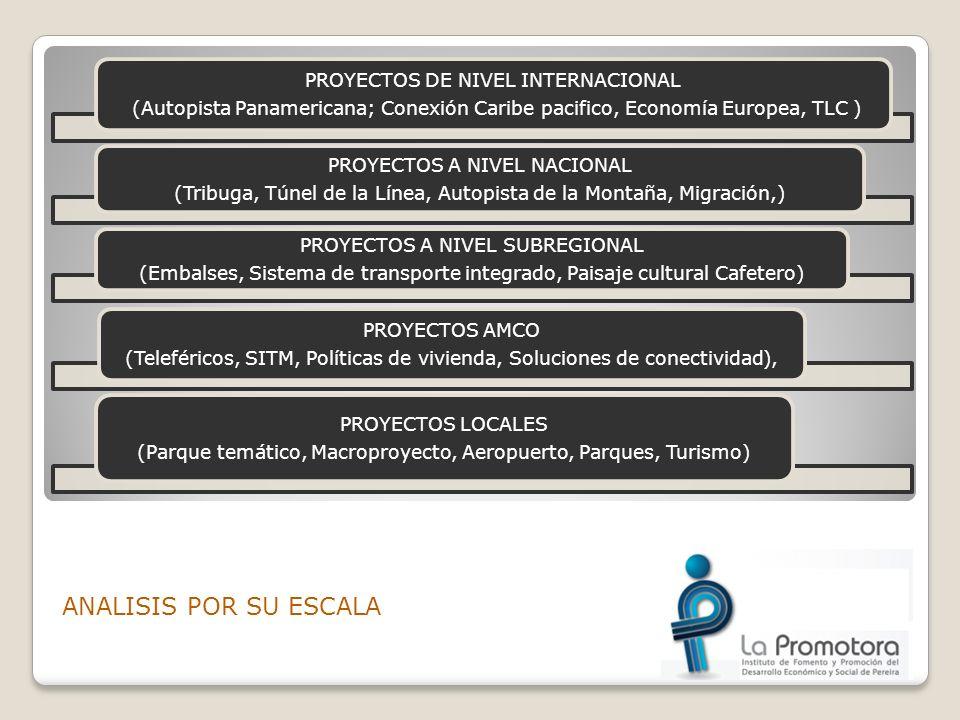 ANALISIS POR SU ESCALA PROYECTOS DE NIVEL INTERNACIONAL