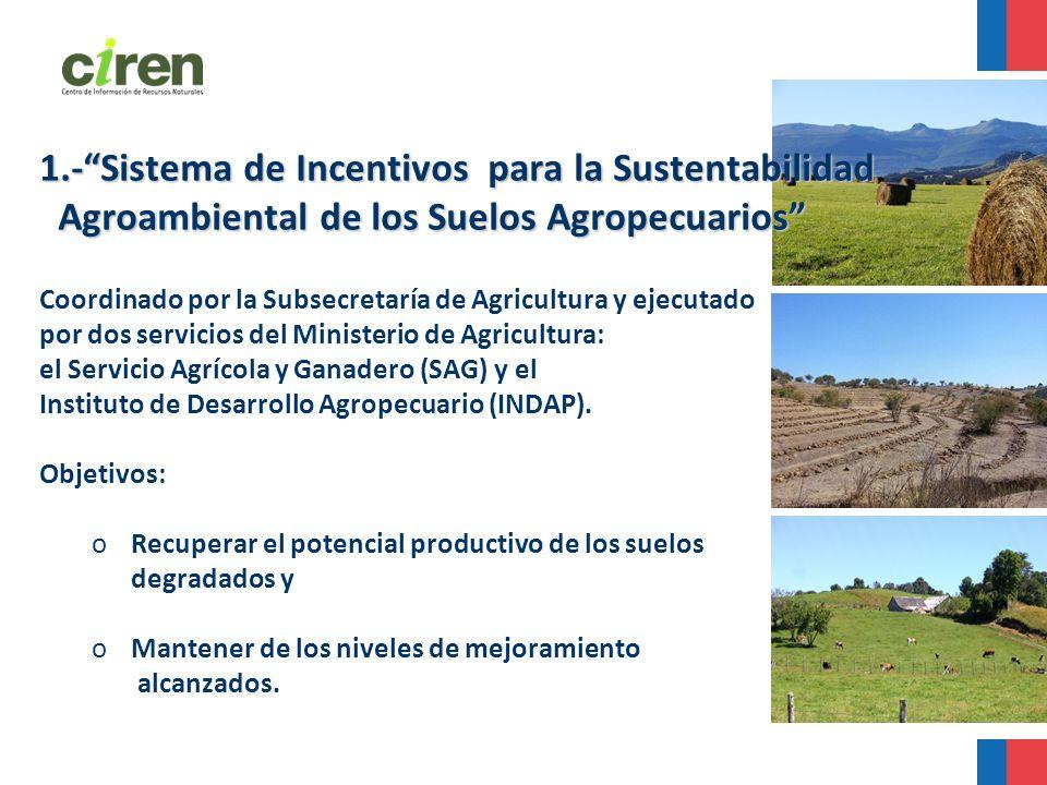 1.- Sistema de Incentivos para la Sustentabilidad