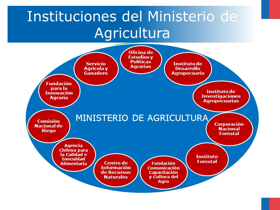 Instituciones del Ministerio de Agricultura