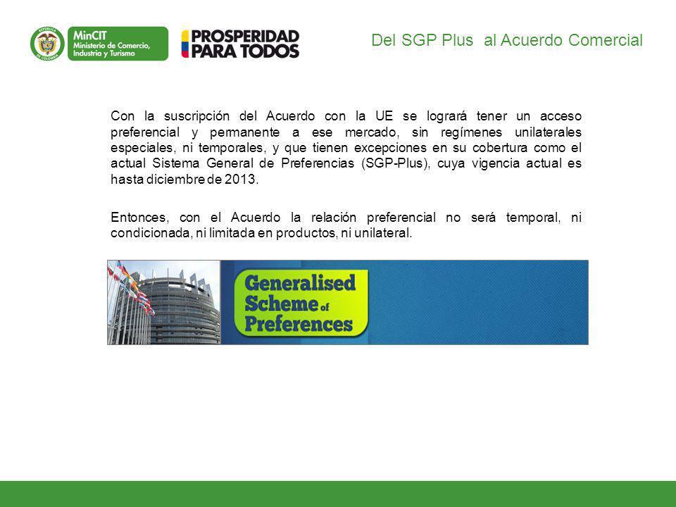 Del SGP Plus al Acuerdo Comercial