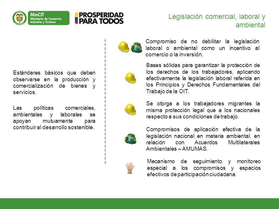 Legislación comercial, laboral y ambiental