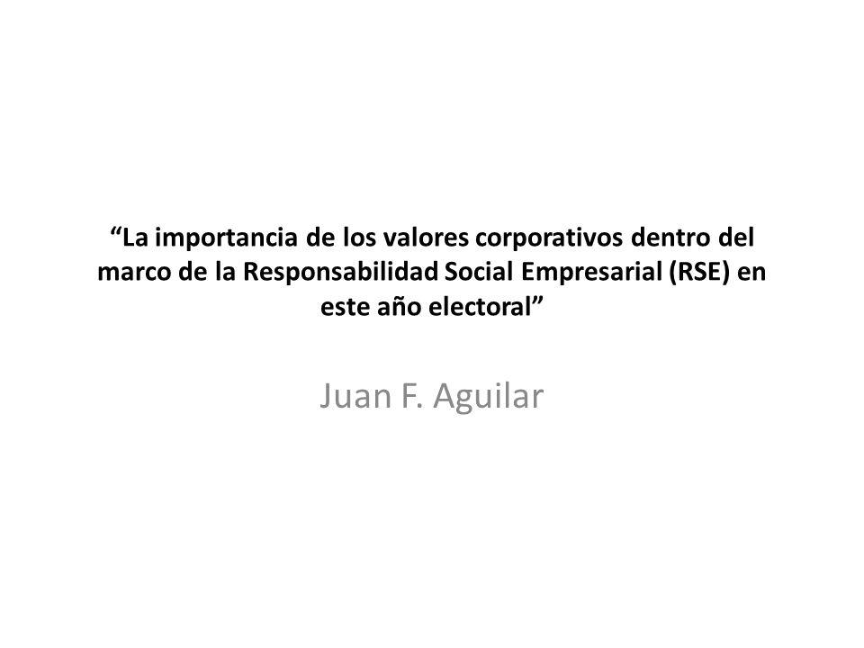 La importancia de los valores corporativos dentro del marco de la Responsabilidad Social Empresarial (RSE) en este año electoral