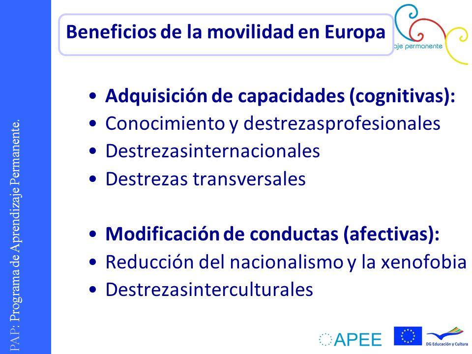 Beneficios de la movilidad en Europa
