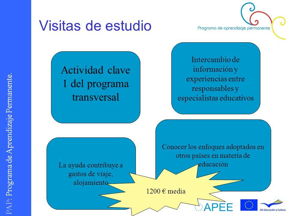 Visitas de estudio Actividad clave 1 del programa transversal