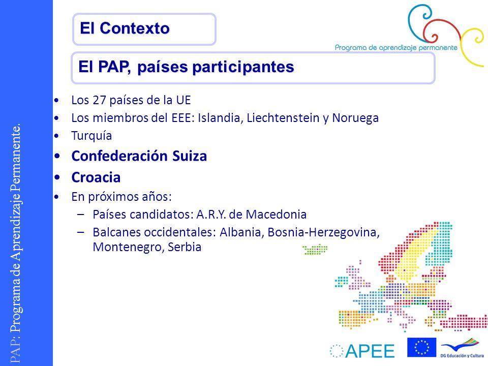 El PAP, países participantes