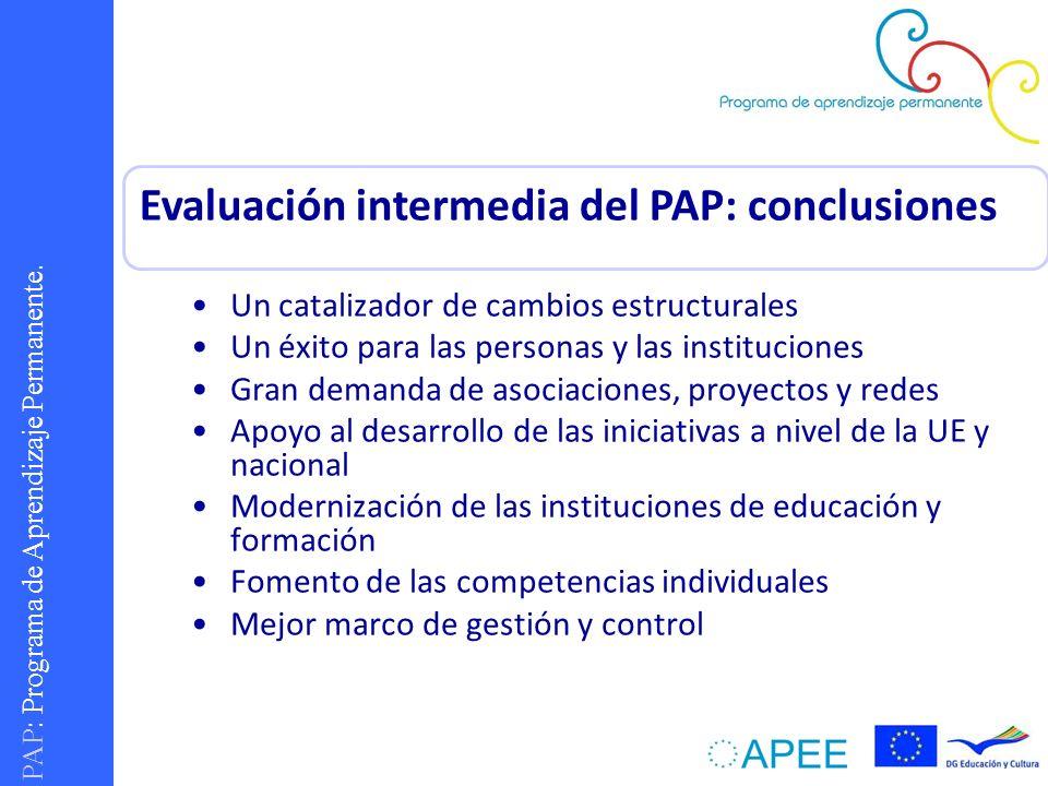 Evaluación intermedia del PAP: conclusiones