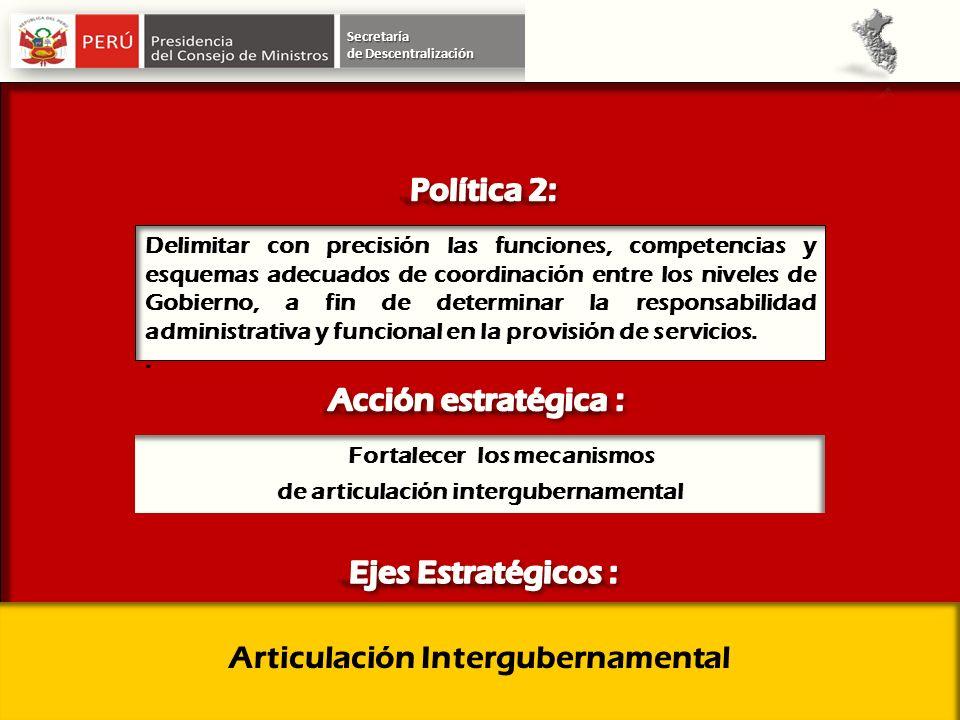 Articulación Intergubernamental