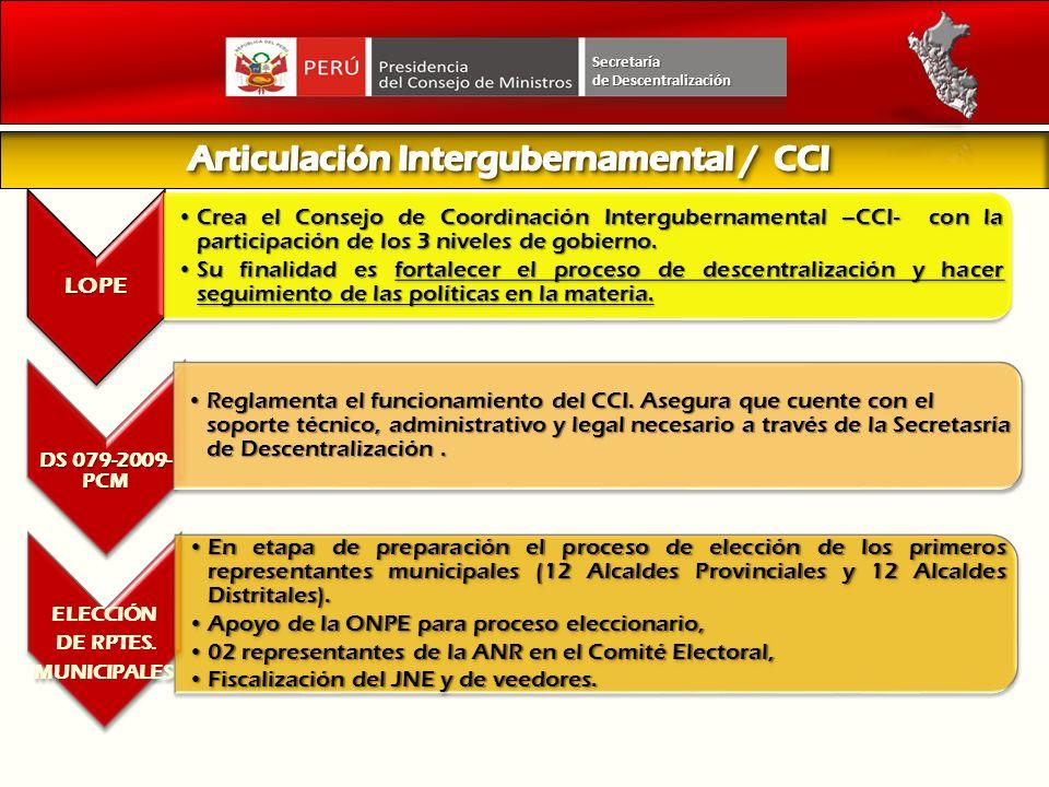 Articulación Intergubernamental / CCI