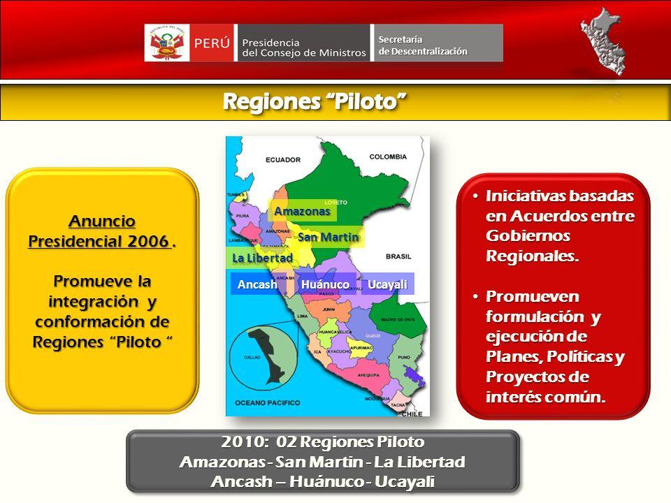 Amazonas - San Martin - La Libertad Ancash – Huánuco - Ucayali