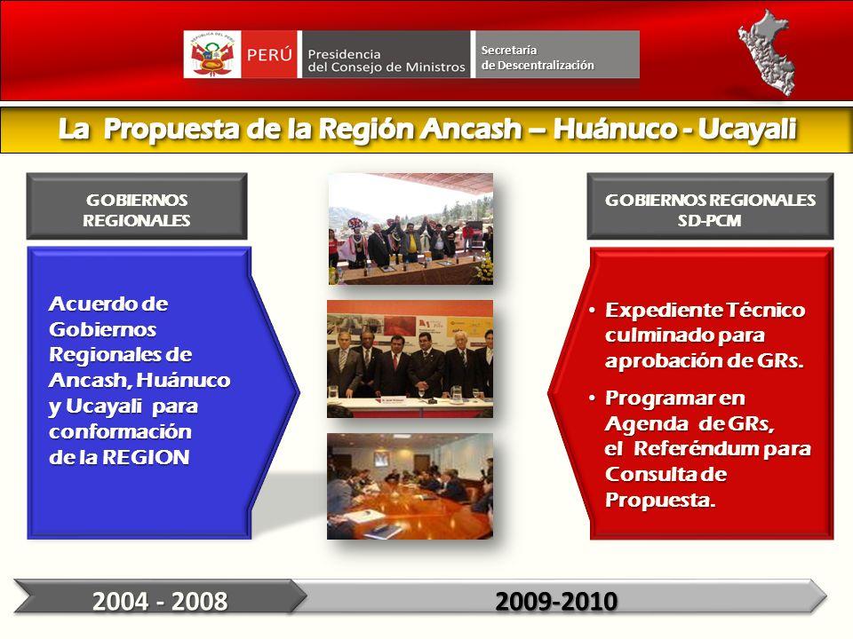 La Propuesta de la Región Ancash – Huánuco - Ucayali
