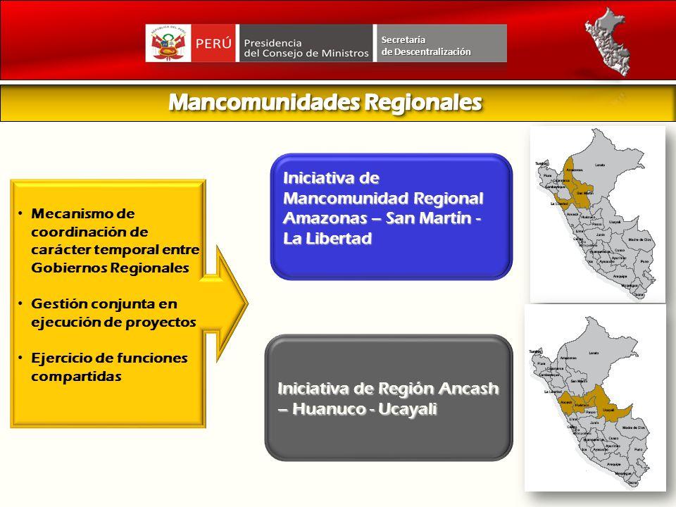 Mancomunidades Regionales