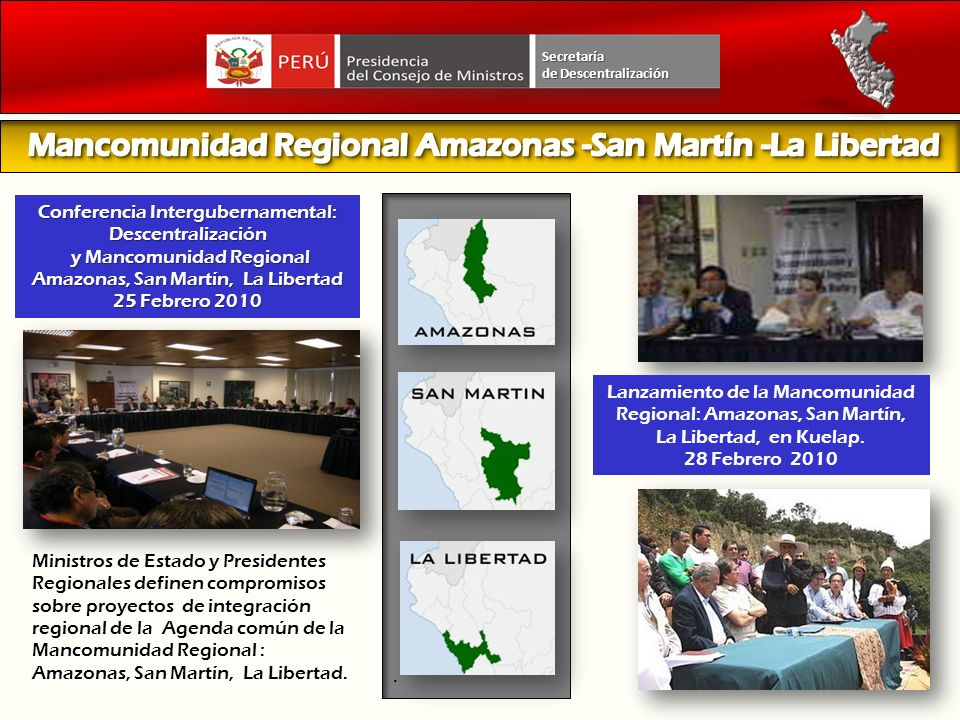 Mancomunidad Regional Amazonas -San Martín -La Libertad
