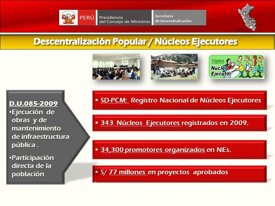 Descentralización Popular / Núcleos Ejecutores