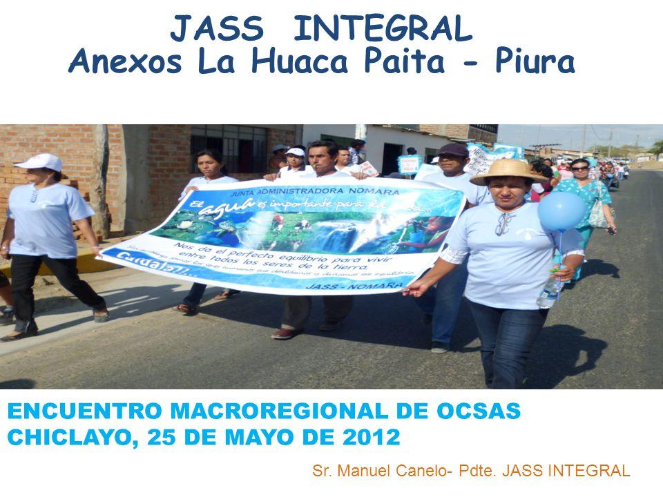 JASS INTEGRAL Anexos La Huaca Paita - Piura