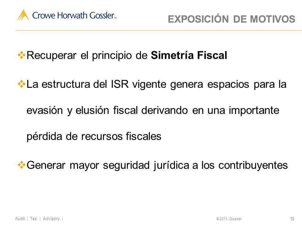 Recuperar el principio de Simetría Fiscal