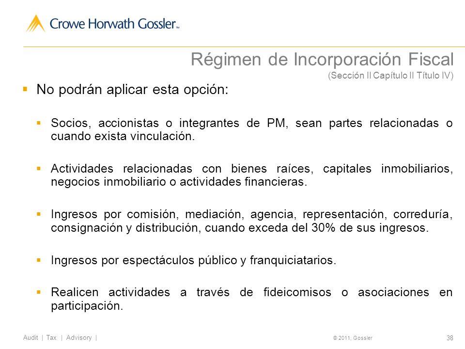 Régimen de Incorporación Fiscal (Sección II Capítulo II Título IV)