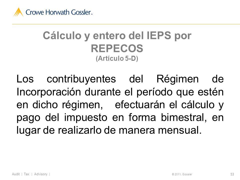 Cálculo y entero del IEPS por REPECOS