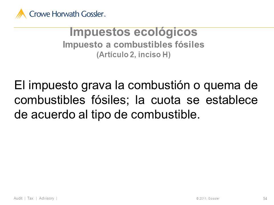 Impuesto a combustibles fósiles