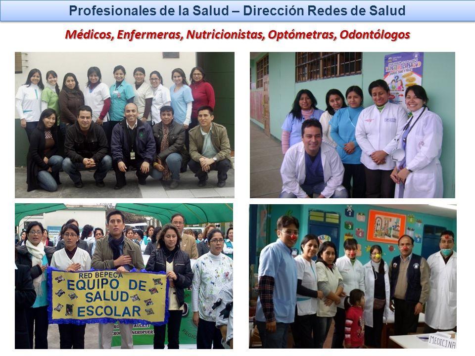 Profesionales de la Salud – Dirección Redes de Salud